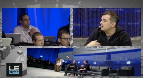 Ivan Hernandez and Gary Vaynerchuk at LeWeb 2013